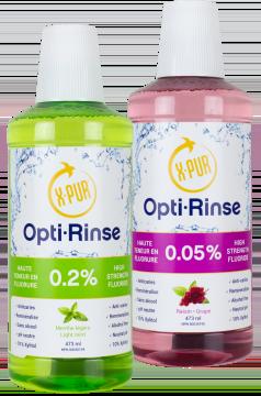 x-pur opti-rinse bottles